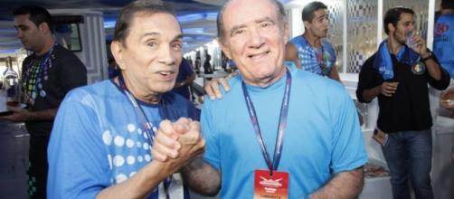 Dedé Santana (à esquerda) é um dos que ficou pobre por não saber guardar dinheiro