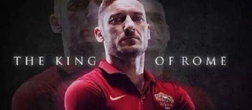Francesco Totti denominato il Re di Roma
