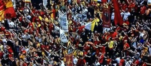 I sostenitori del Benevento in festa al Curi