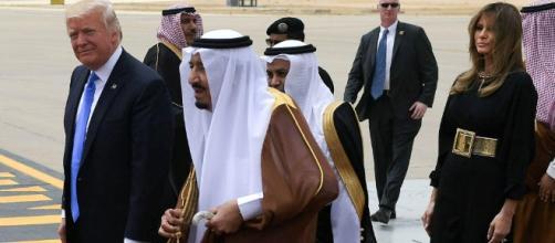 Il presidente degli Stati Uniti in occasione della sua recente visita in Arabia Saudita