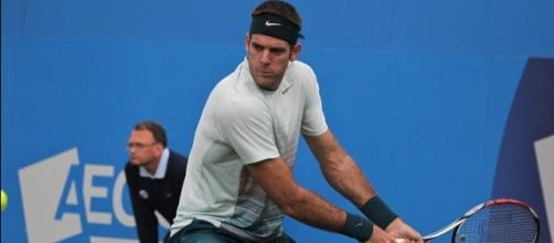 Juan Martin del Potro during last year's ATP Queen's. Photo by Marianne Bevis -- CC BY-ND 2.0