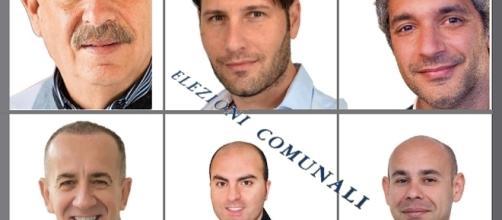 L'immagine riportata da Avola Blog con i sei candidati Sindaco