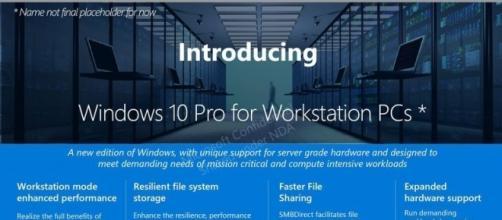 Microsoft lascia trapelare una nuova versione di Windows 10 per Workstation