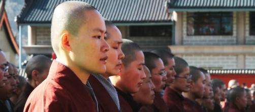 Monjas del Monasterio y Academia del Monte Wutai.