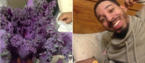 Namorado dá alface para a namorada pensando ser flor (Reprodução: Twitter)