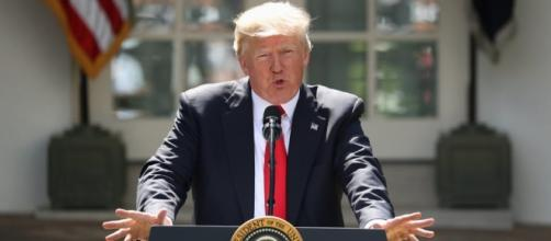 President Donald Trump pulls the United States out of the Paris Agreement. (via - WBUR at wbur.org)