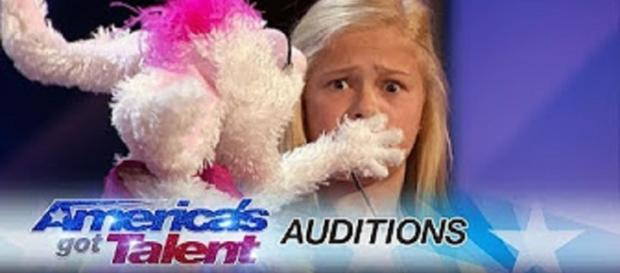 """America's Got Talent"" Season 12 already has a golden buzzer grabber, Darci Lynne and her bunny, Petunia--personal edited screenshot image"