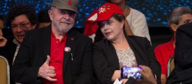 Dilma e Lula em evento do Partido dos Trabalhadores