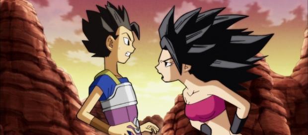 Kyabe y Caulifla en el episodio 92.