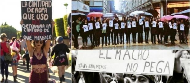 Manifestación de mujeres contra la violencia de género