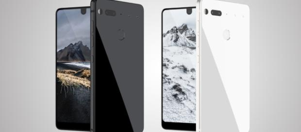 Two versions of the Essential smartphone by android co-founder Andy Rubin.