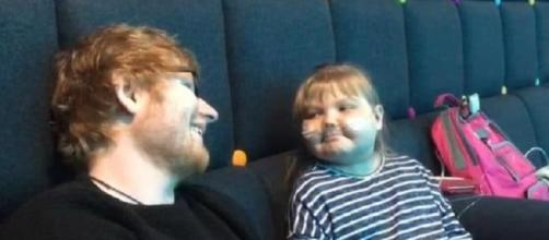 Ed Sheeran makes time for his special girl, Melody Driscoll, at a concert just for her.--Facebook Melody in Mind