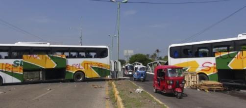 En el Istmo, los bloqueos de carretera ahorcan la economía