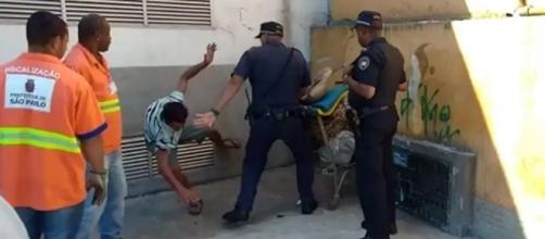 Morador de rua é agredido covardemente por GCM na Zona Sul de São Paulo