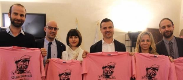 Andrea Vannucci assessore allo sport di Firenze, Cecilia Del Re assessore allo sviluppo economico, il sindaco di Bagno a Ripoli Francesco Casini.