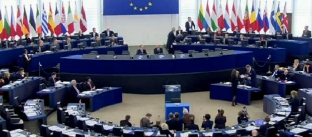 Una seduta del Parlamento europeo
