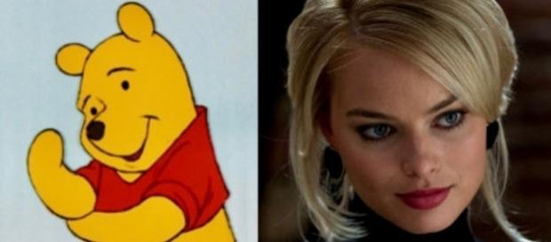 Winnie the Pooh and Margot Robbie