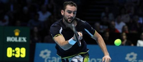 Marin Cilic during the 2016 ATP World Tour Finals in London. Photo by Marianne Bevis -- CC BY-ND 2.0