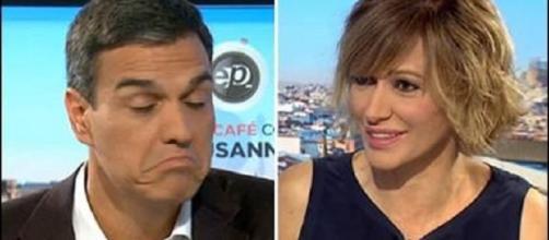 Pedro Sánchez y Susanna Griso en Espejo Público