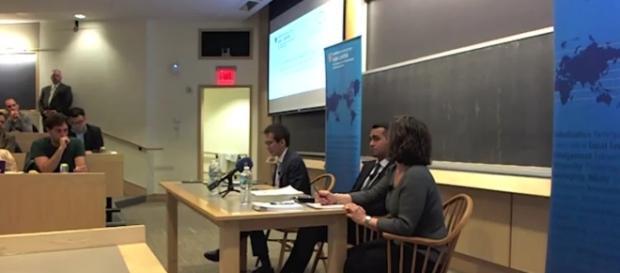 Il vicepresidente della Camera dei Deputati, Luigi Di Maio, ospite all'Università di Harvard