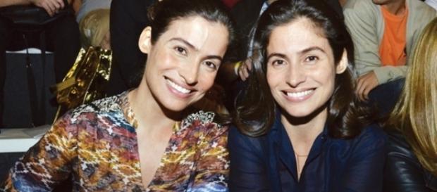 Renata Vasconcellos e Lanza Mazza são irmãs gêmeas