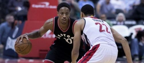 DeMar DeRozan in action, Wikimedia Commons https://commons.wikimedia.org/wiki/File:DeMar_DeRozan_dribbling_Nov_2_2016.jpg