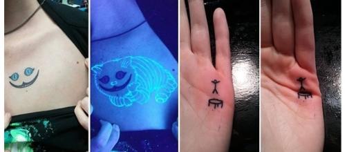 Desenhos escondidos e diferentes em tatuagens