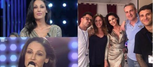 Il look di Anna Tatangelo in occasione della seconda puntata de I Migliori Anni