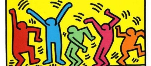 Não pare na pista com os sucessos dos anos 80 (Obra do Artista Plástico Keith Haring nos anos 80)