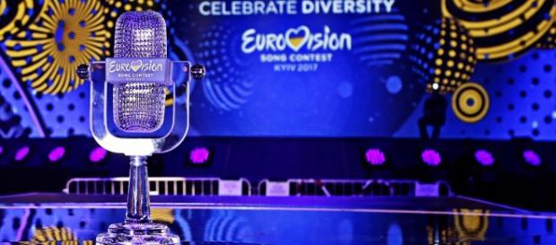 Le trophée de l'Eurovision 2017 (Photo Thomas Hanses/EBU)