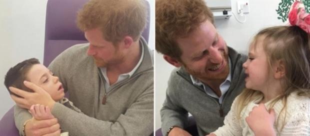 Prințul Harry a făcut o vizită surpriză la doi frați ce suferă de o boală incurabilă - Foto: Daily Mail (© MEN Syndication)