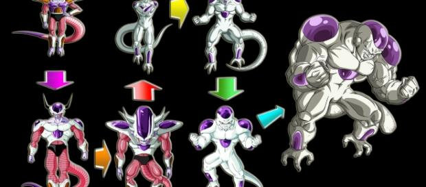 Todas las formas de Freezer por Frost Ultimate Warrior