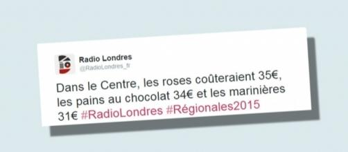 Le hashtag Radio Londres inonde les réseaux sociaux français en période d'élections.