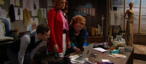 """Spectra Fashions office on """"The Bold and the Beautiful."""" Soapcentral.com"""