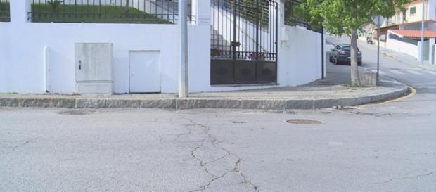 Local em que Adriana Ferreira foi atropelada