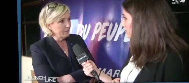 Marine Le Pen em entrevista para a mídia francesa