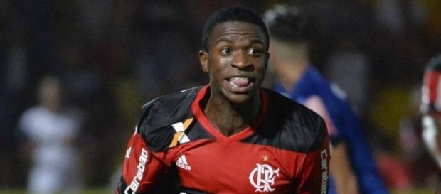 Vinicius Junior, durante un partido con el Flamengo