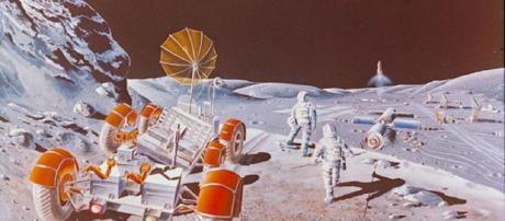 Future lunar colony (Courtesy of NASA)
