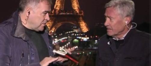 García Ferreras en París junto al profesor