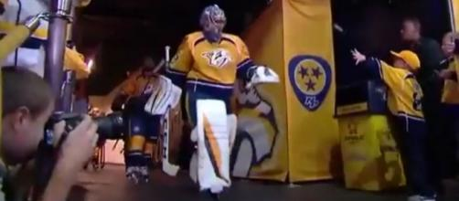Rinne is ready for the game, HOCKEY NHL Youtube channel https://www.youtube.com/watch?v=cKAdwLLQx-g