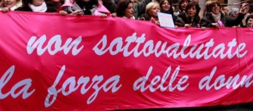 Una precedente protesta delle lavoratrici