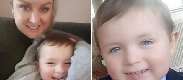 Toni McCann e o bebê Cillian, de 2 anos (Foto: Reprodução/Vídeo)