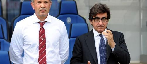 L'allenatore del Torino Sinisa Mihajlovic e il presidente Urbano Cairo - toronews.net