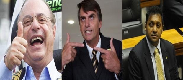 Bolsonaro e Maluf aprovam a reforma trabalhista e Tiririca é contra (Foto: Reprodução/Montagem/Guti Mks)
