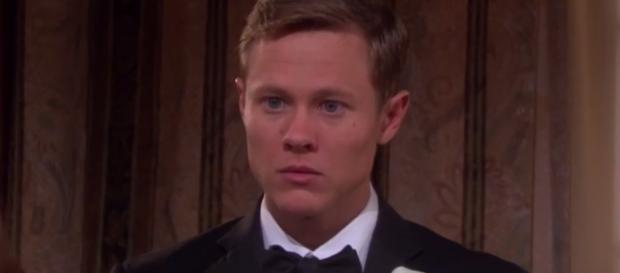 Guy Wilson's reaction to Chandler Massey returning to 'Days Of Our Lives.' Photo via TV Source Magazine/Photo Screencap via NBC/YouTube.com