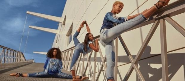 Las bailarinas participaron en la campaña SS17 de Desigual