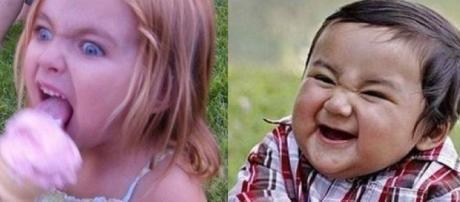 Essas crianças foram fotografadas no momento exato (Foto: Reprodução)