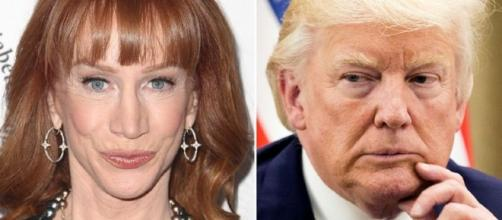 CNN fires comedian Kathy Griffin after showing photo of Trump bloody head. Photo - yahoo.com