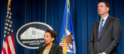 Former Attorney General Loretta Lynch (left), former FBI Director James Comey (right). / Photo by abcnews.go.com via Blasting News library