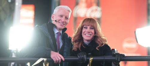 Happier days: Kathy Griffin and Anderson Cooper at the last CNN New Year's Eve program on December 31, 2016. / from 'Daily Wire' - dailywire.com